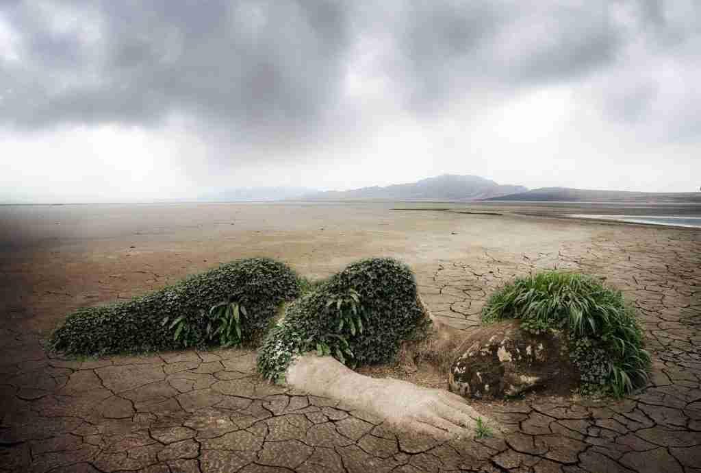 Allegoria di madre terra morente per la siccità per l'articolo L'impronta idrica di ciò che mangi: come ridurla in 3 mosse