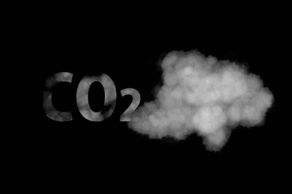 Immagine che rappresenta la CO2 in maniera inquietante