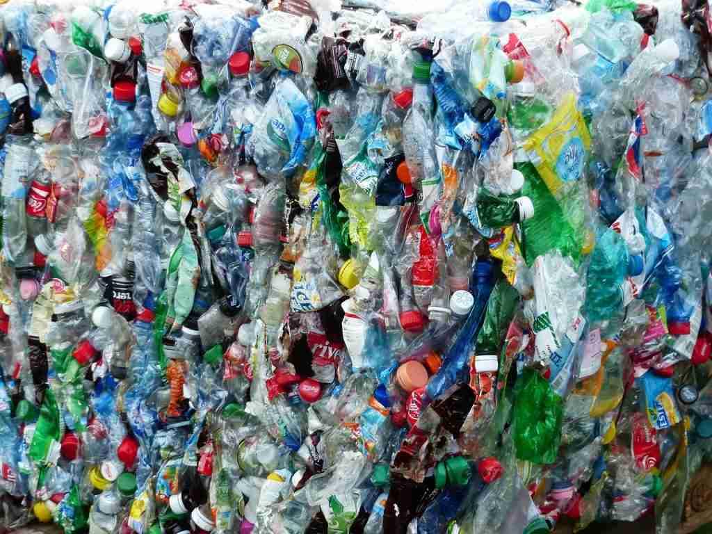 Plastica usa e getta compressa
